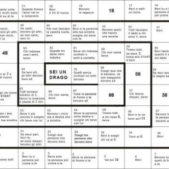 10 giochi semplici e divertenti da fare in compagnia degli for Gioco dell oca alcolico da stampare